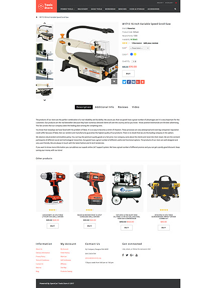 Most Popular Tools & Equipment website inspirations at your coffee break? Browse for more OpenCart #templates! // Regular price: $59 // Sources available: .PSD, .PNG, .PHP, .TPL, .JS #Most Popular #Tools & Equipment #OpenCart