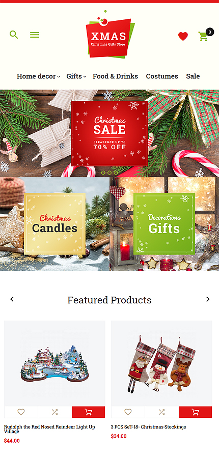 Christmas Templates website inspirations at your coffee break? Browse for more Magento #templates! // Regular price: $179 // Sources available: .PSD, .XML, .PHTML, .CSS #Christmas Templates #Magento