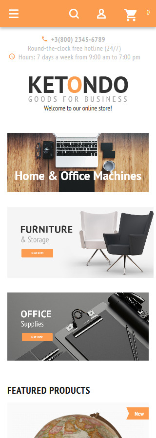 Business website inspirations at your coffee break? Browse for more Magento #templates! // Regular price: $179 // Sources available: .PSD, .XML, .PHTML, .CSS #Business #Magento