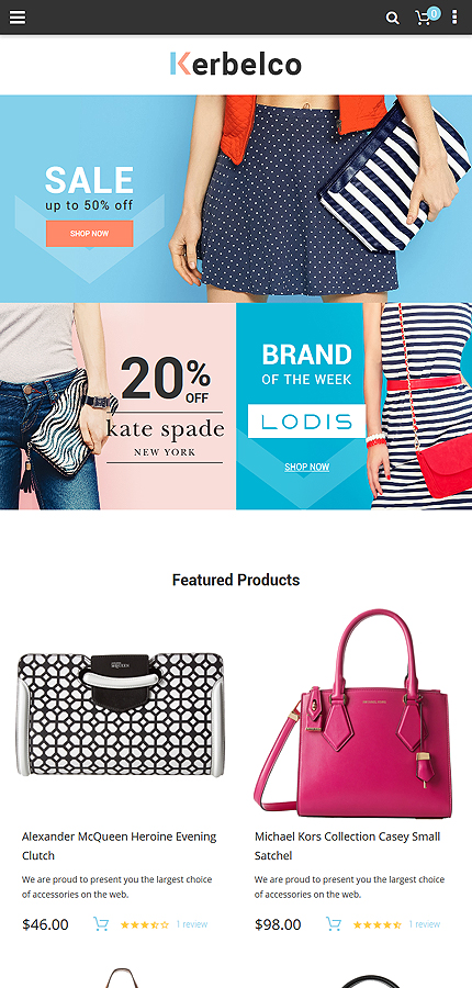 Fashion website inspirations at your coffee break? Browse for more Magento #templates! // Regular price: $179 // Sources available: .PSD, .XML, .PHTML, .CSS #Fashion #Magento
