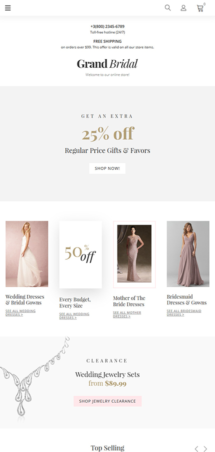 Wedding website inspirations at your coffee break? Browse for more Magento #templates! // Regular price: $179 // Sources available: .PSD, .XML, .PHTML, .CSS #Wedding #Magento