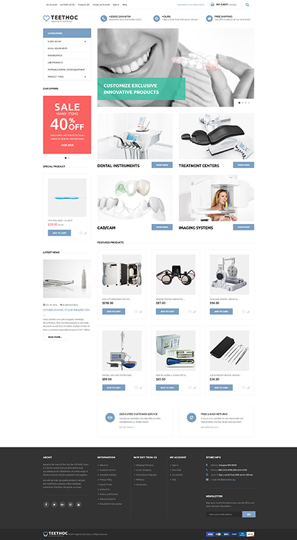 Medical - Type magento-themes - Template # 62105 - Espresso Templates