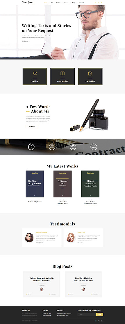 Books website inspirations at your coffee break? Browse for more Bootstrap #templates! // Regular price: $75 // Sources available: .HTML,  .PSD #Books #Bootstrap