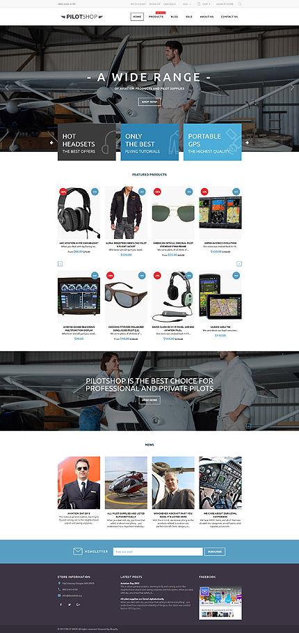 PilotShop Pilot Supplies Responsive Shopify Template