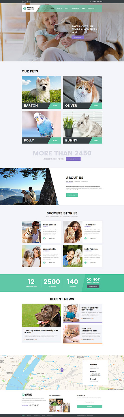 Animals & Pets website inspirations at your coffee break? Browse for more Joomla #templates! // Regular price: $75 // Sources available: .PSD, .PHP #Animals & Pets #Joomla