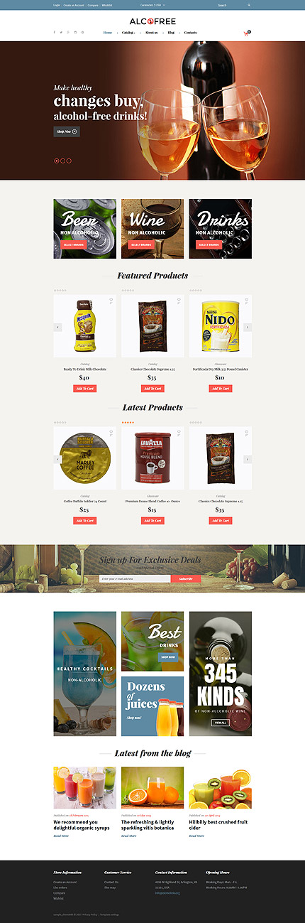Food & Drink website inspirations at your coffee break? Browse for more VirtueMart #templates! // Regular price: $139 // Sources available: .HTML,  .PSD, .PHP, .XML, .CSS, .JS #Food & Drink #VirtueMart