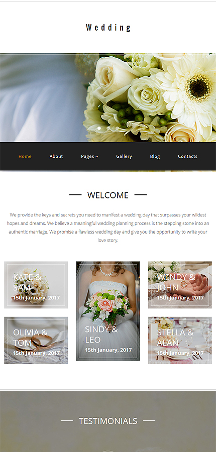 Wedding Most Popular website inspirations at your coffee break? Browse for more Joomla #templates! // Regular price: $75 // Sources available: .PSD, .PHP #Wedding #Most Popular #Joomla