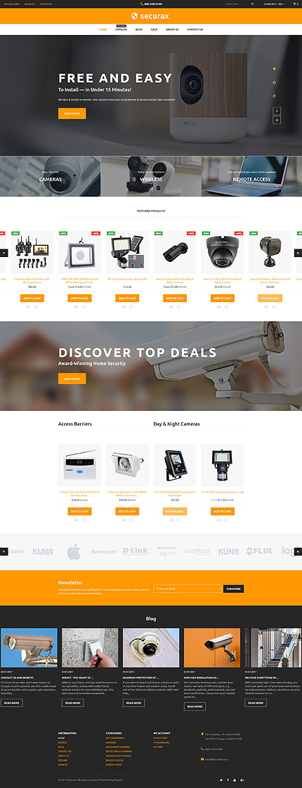 Security Responsive Shopify Template