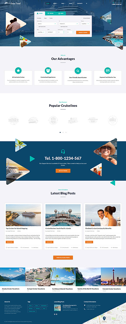 Travel Most Popular website inspirations at your coffee break? Browse for more Bootstrap #templates! // Regular price: $75 // Sources available: .HTML,  .PSD #Travel #Most Popular #Bootstrap