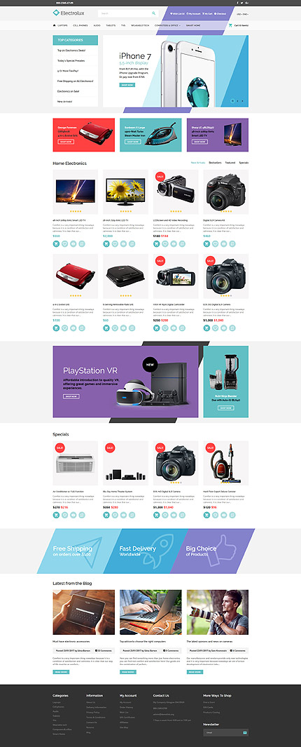 Electronics Most Popular website inspirations at your coffee break? Browse for more OpenCart #templates! // Regular price: $79 // Sources available: .PSD, .PNG, .PHP, .TPL, .JS #Electronics #Most Popular #OpenCart