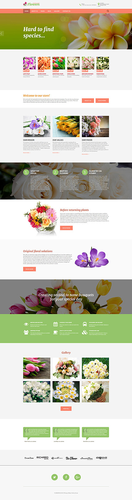 Flowers website inspirations at your coffee break? Browse for more Joomla #templates! // Regular price: $75 // Sources available: .PSD, .PHP #Flowers #Joomla