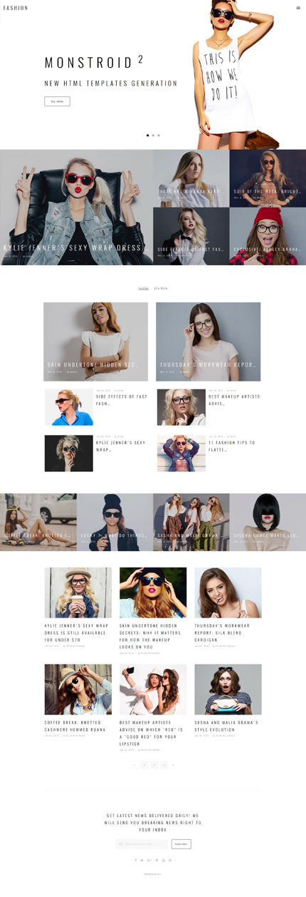 Fashion website inspirations at your coffee break? Browse for more Bootstrap #templates! // Regular price: $75 // Sources available: .HTML,  .PSD #Fashion #Bootstrap