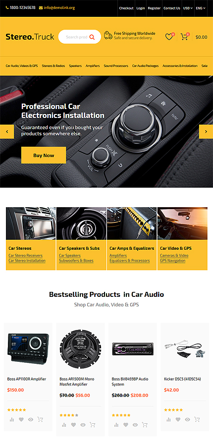 Car Most Popular website inspirations at your coffee break? Browse for more OpenCart #templates! // Regular price: $59 // Sources available: .PSD, .PNG, .PHP, .TPL, .JS #Car #Most Popular #OpenCart