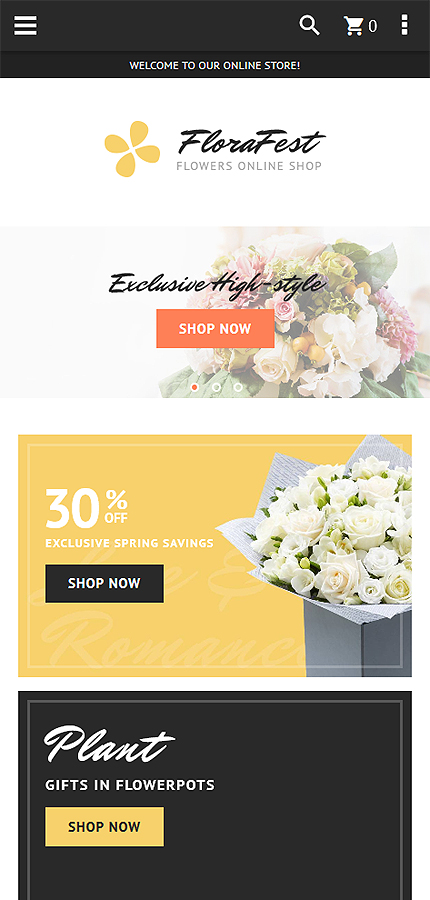 Flowers Most Popular website inspirations at your coffee break? Browse for more Magento #templates! // Regular price: $179 // Sources available: .PSD, .XML, .PHTML, .CSS #Flowers #Most Popular #Magento