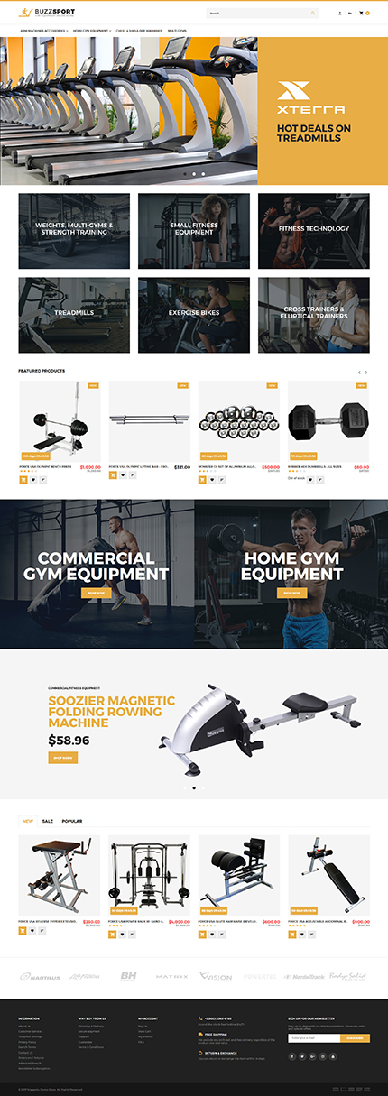 Sport website inspirations at your coffee break? Browse for more Magento #templates! // Regular price: $179 // Sources available: .PSD, .XML, .PHTML, .CSS #Sport #Magento