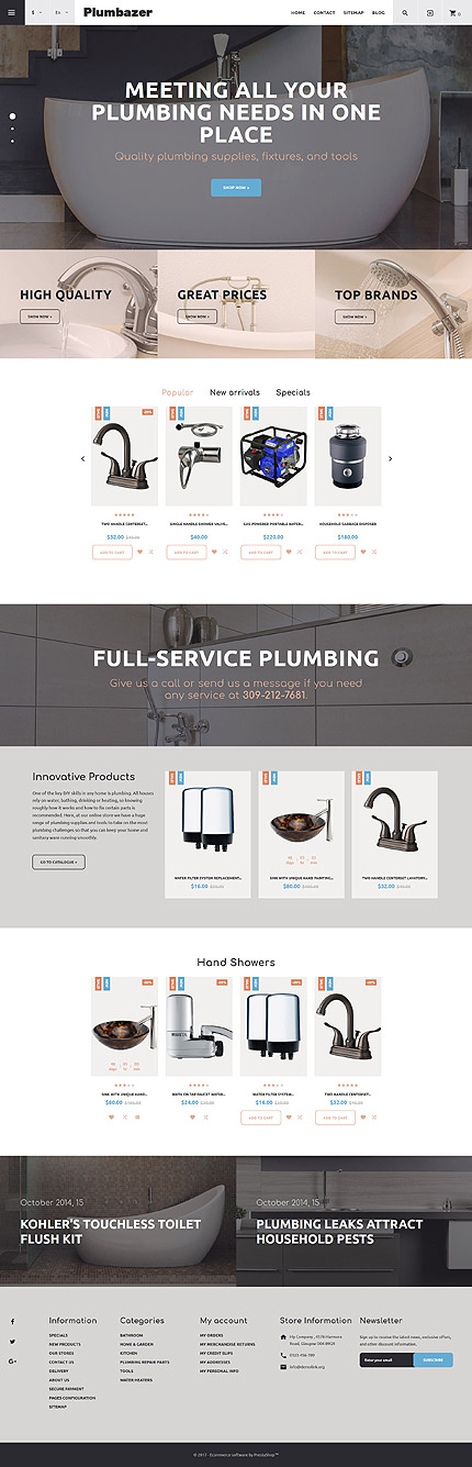 Maintenance Services website inspirations at your coffee break? Browse for more PrestaShop #templates! // Regular price: $139 // Sources available: .PSD, .PHP, .TPL #Maintenance Services #PrestaShop