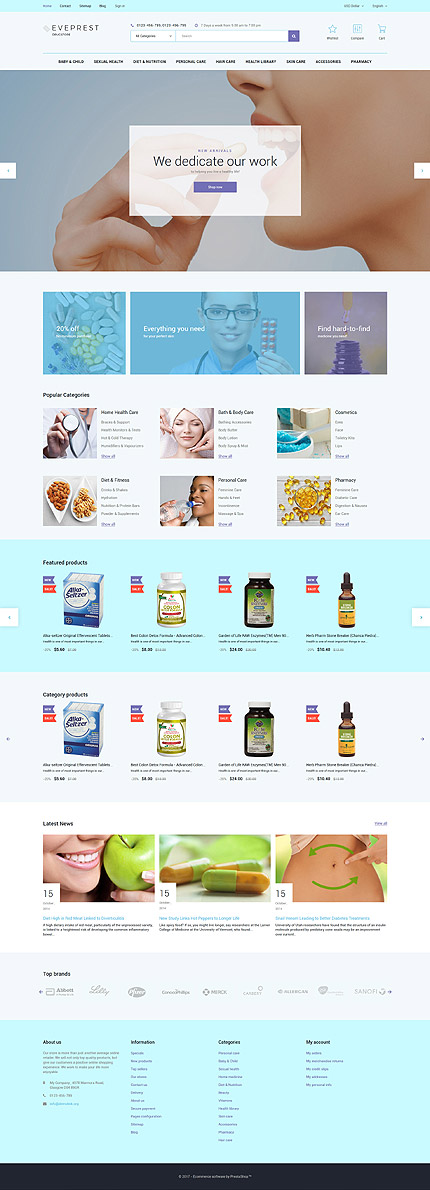 Medical Most Popular website inspirations at your coffee break? Browse for more PrestaShop #templates! // Regular price: $139 // Sources available: .PSD, .PHP, .TPL #Medical #Most Popular #PrestaShop