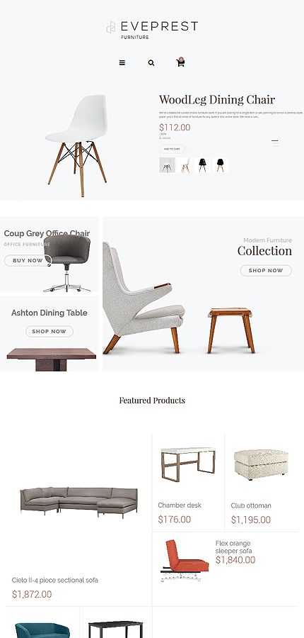 Interior & Furniture Most Popular website inspirations at your coffee break? Browse for more PrestaShop #templates! // Regular price: $139 // Sources available: .PSD, .PHP, .TPL #Interior & Furniture #Most Popular #PrestaShop