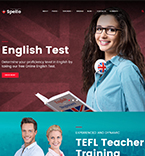 Language School WordPress Template