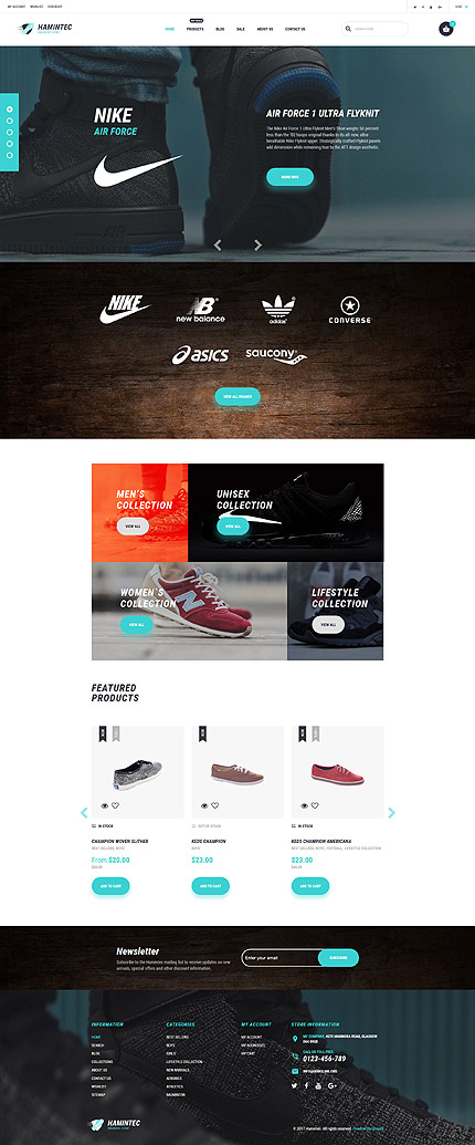 Hamintec Luxury Quality Sneakers Store Shopify Template