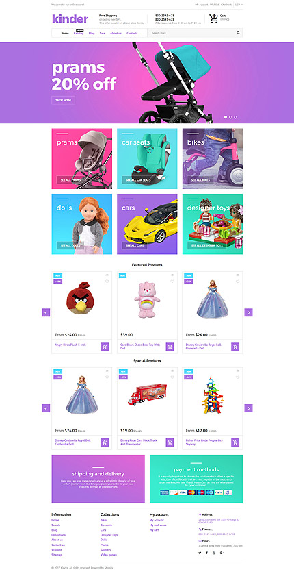 Responsive Kinder Toy Store Shopify Template