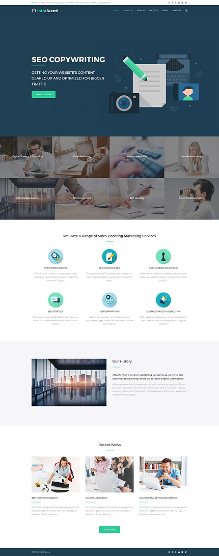 Business website inspirations at your coffee break? Browse for more Drupal #templates! // Regular price: $75 // Sources available: .PSD, .PHP #Business #Drupal