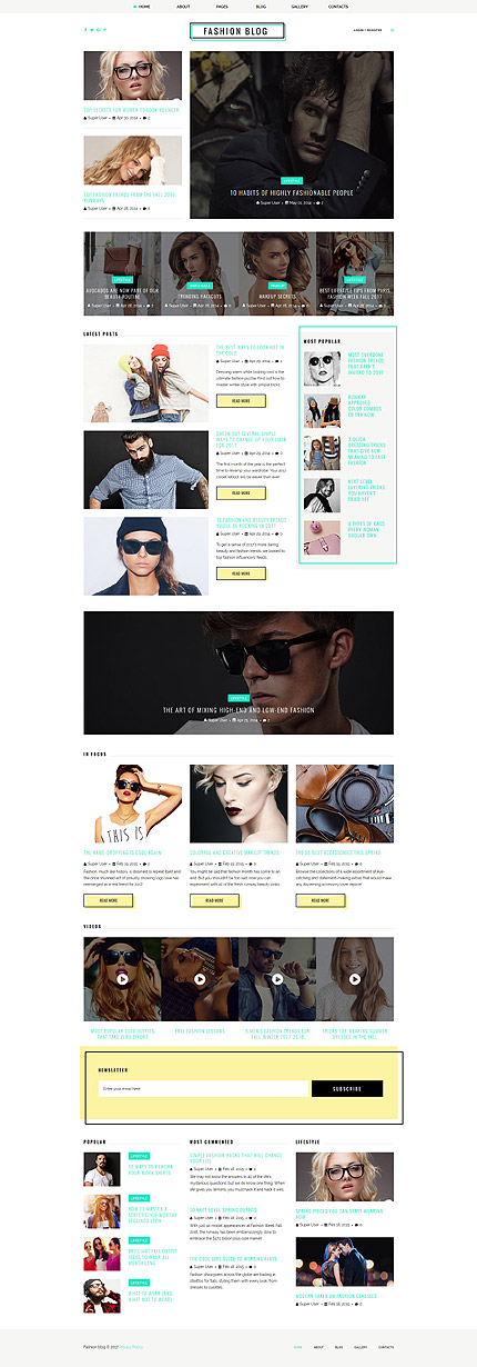 Fashion website inspirations at your coffee break? Browse for more Joomla #templates! // Regular price: $75 // Sources available: .PSD, .PHP #Fashion #Joomla