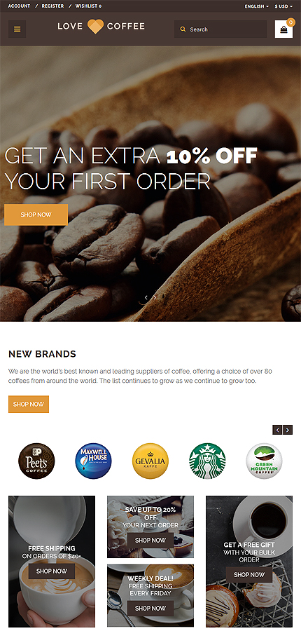 Cafe and Restaurant Most Popular website inspirations at your coffee break? Browse for more OpenCart #templates! // Regular price: $49 // Sources available: .PSD, .PNG, .PHP, .TPL, .JS #Cafe and Restaurant #Most Popular #OpenCart
