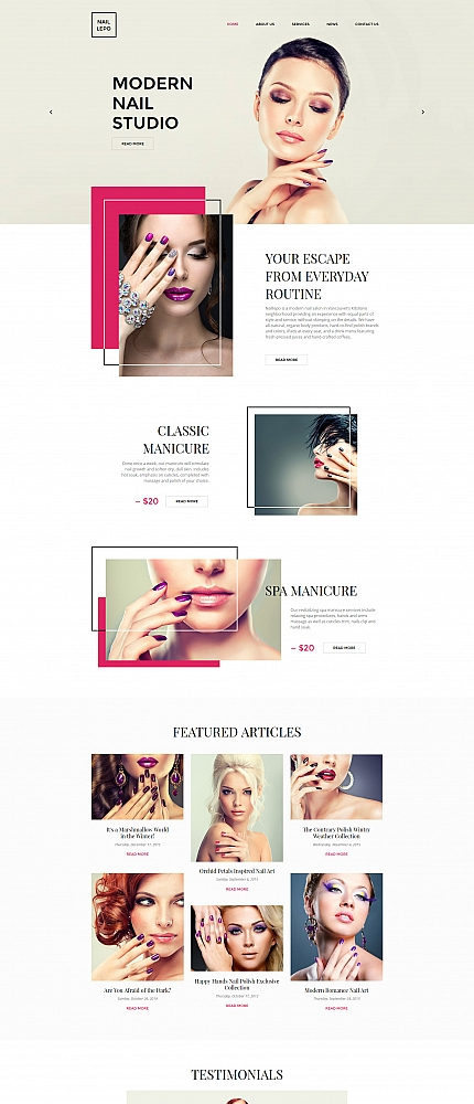 Beauty website inspirations at your coffee break? Browse for more Moto CMS HTML #templates! // Regular price: $139 // Sources available:<b>Sources Not Included</b> #Beauty #Moto CMS HTML