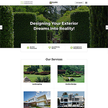 Landscaping Website Templates, Home Repair Website