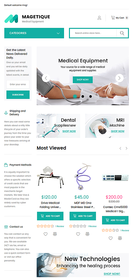 Medical website inspirations at your coffee break? Browse for more Magento #templates! // Regular price: $179 // Sources available: .PSD, .XML, .PHTML, .CSS #Medical #Magento