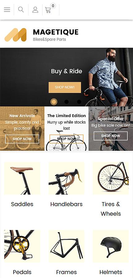 Plantilla para magento - Categoría: Coches y motos - versión para Smart Phone (Responsive)