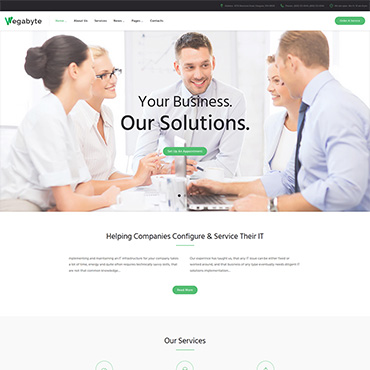 WordPress Theme # 63550