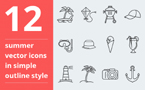 Template 63685 Icon set