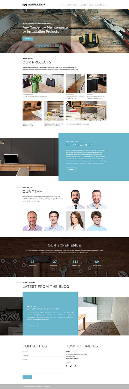 Carpentry Services Joomla Template