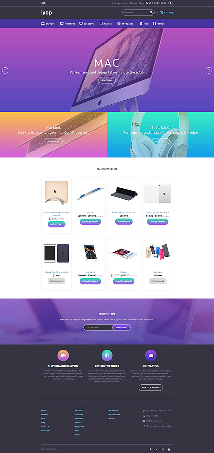 Computer Store Responsive Shopify Awesome Template