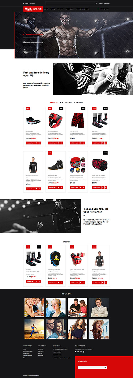 Fight Club OpenCart Template