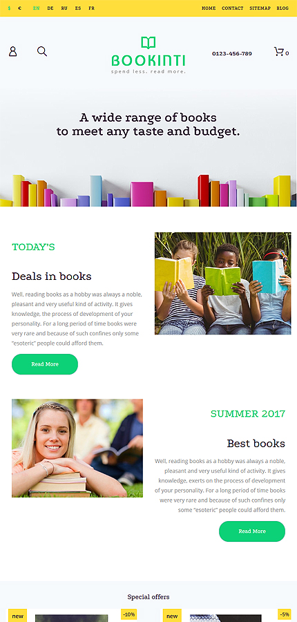 Books Most Popular website inspirations at your coffee break? Browse for more PrestaShop #templates! // Regular price: $139 // Sources available: .PSD, .PHP, .TPL #Books #Most Popular #PrestaShop