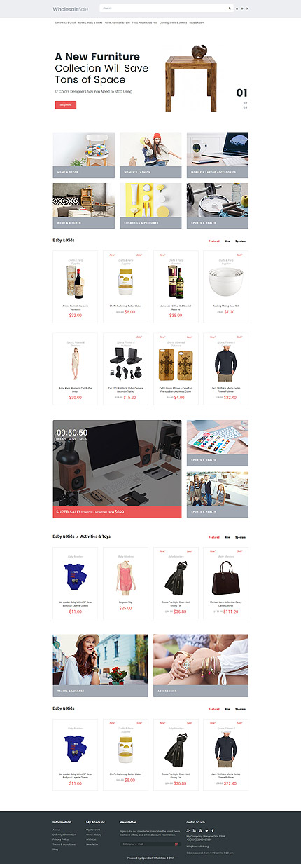 Wholesale Store OpenCart Template