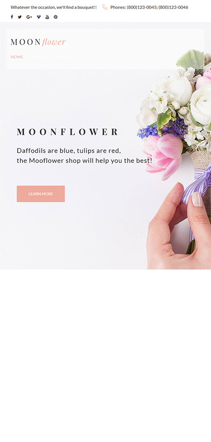 Flowers Most Popular website inspirations at your coffee break? Browse for more WordPress #templates! // Regular price: $75 // Sources available:.PHP, This theme is widgetized #Flowers #Most Popular #WordPress