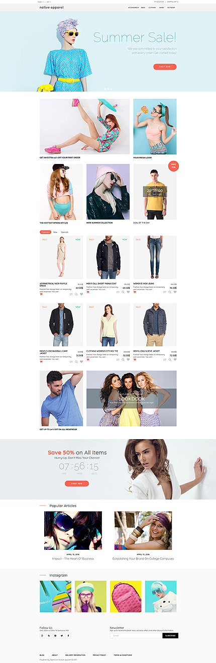 Fashion Most Popular website inspirations at your coffee break? Browse for more OpenCart #templates! // Regular price: $59 // Sources available: .PSD, .PNG, .PHP, .TPL, .JS #Fashion #Most Popular #OpenCart