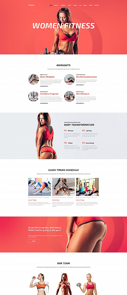 Responsive Fitnesto Fitness and Gym Premium MotoCMS 3  Website Template