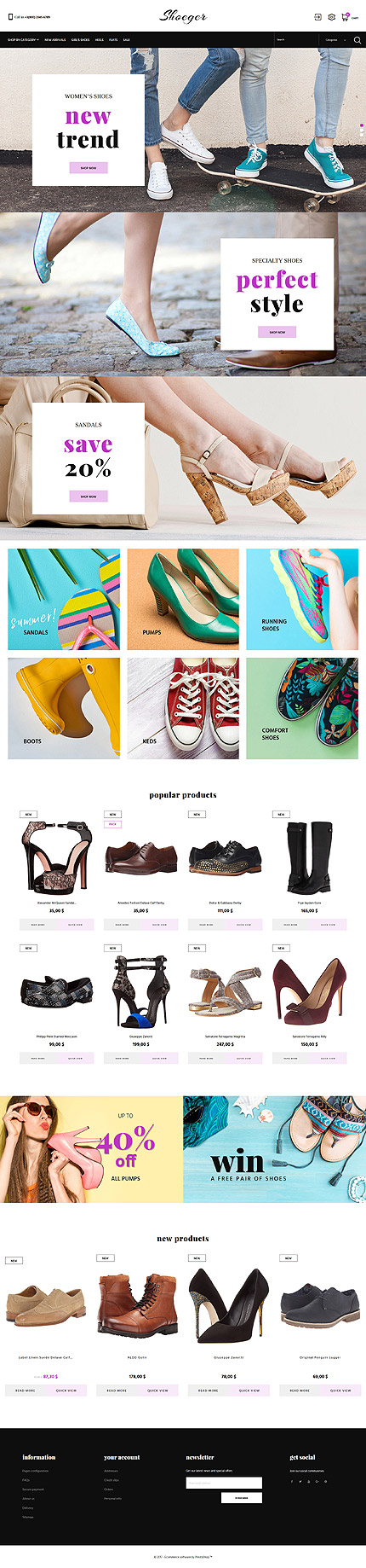 Fashion website inspirations at your coffee break? Browse for more PrestaShop #templates! // Regular price: $139 // Sources available: .PSD, .PHP, .TPL #Fashion #PrestaShop
