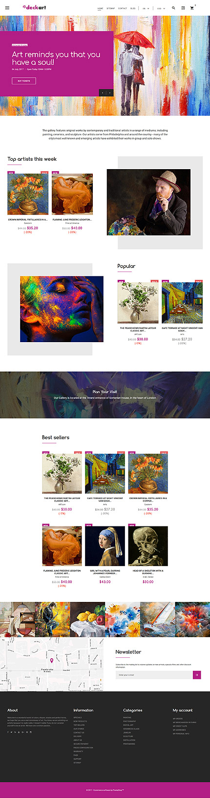 Art & Photography Most Popular website inspirations at your coffee break? Browse for more PrestaShop #templates! // Regular price: $139 // Sources available: .PSD, .PHP, .TPL #Art & Photography #Most Popular #PrestaShop