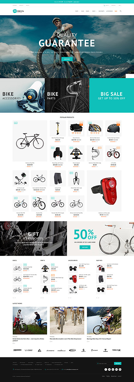 Bike Store PrestaShop Template