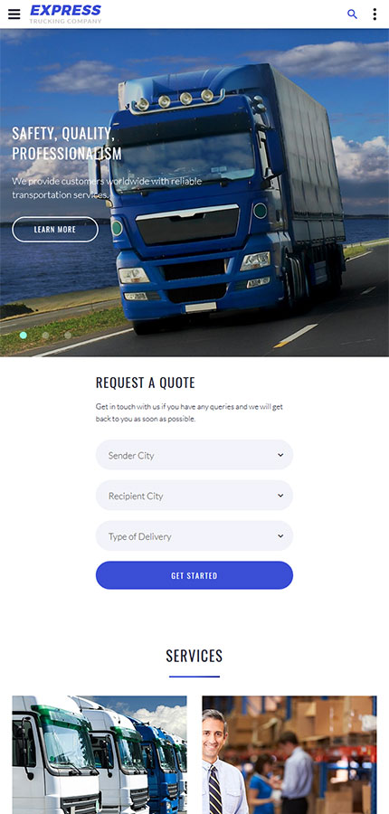 Transportation Most Popular website inspirations at your coffee break? Browse for more Bootstrap #templates! // Regular price: $72 // Sources available: .HTML,  .PSD #Transportation #Most Popular #Bootstrap