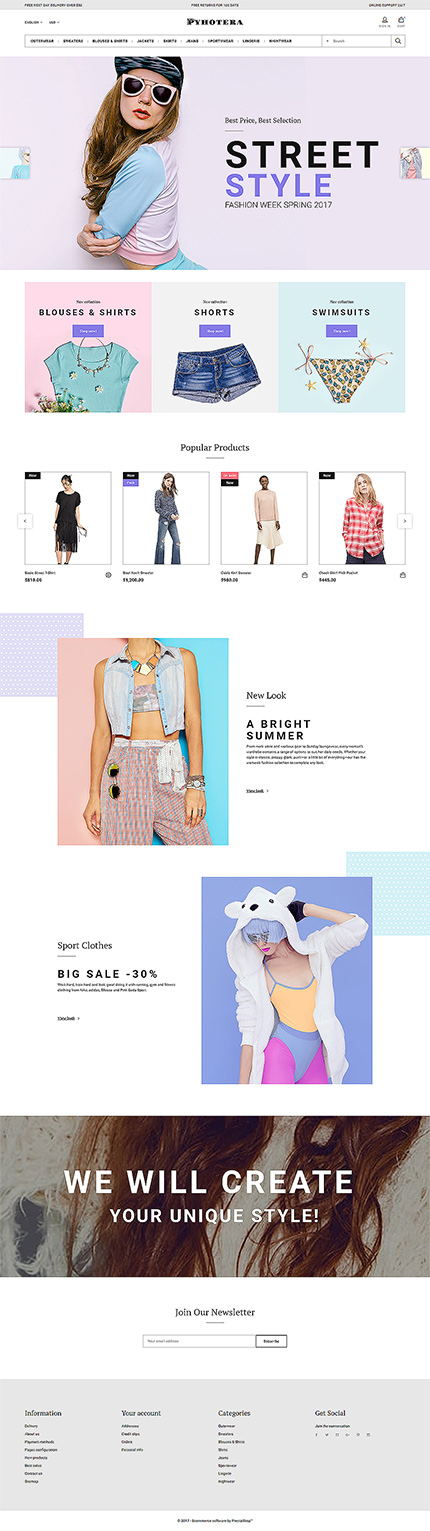 Clothes PrestaShop Template