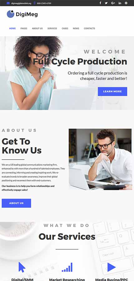 Business website inspirations at your coffee break? Browse for more WordPress #templates! // Regular price: $81 // Sources available:.PHP, This theme is widgetized #Business #WordPress