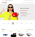 Glasses Store PrestaShop Template