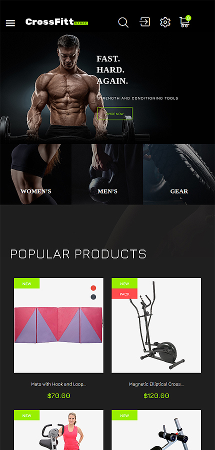 Sport website inspirations at your coffee break? Browse for more PrestaShop #templates! // Regular price: $139 // Sources available: .PSD, .PHP, .TPL #Sport #PrestaShop